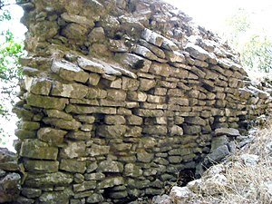 Araklovon Castle - Part of the wall of one of the sites identified as the Araklovon castle, on Mount Minthi.