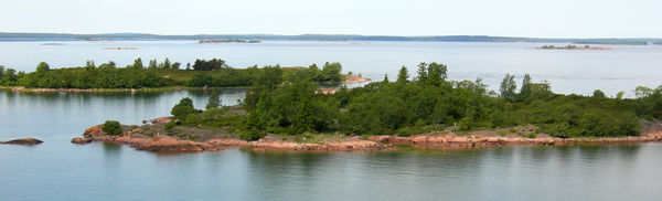 Skerries form an integral and typical part of many of the archipelagos of the Baltic Sea, such as these in the archipelago of the Aland Islands, Finland. Archipelago062009.jpg