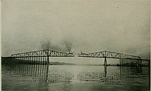 construction of the bridge, 1930