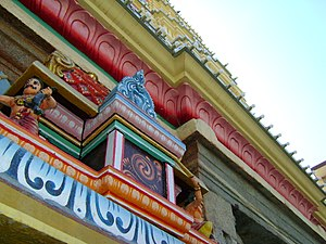 Dharmaraya Swamy Temple - The temple was renovated and painted recently in 2009.