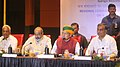 Arjun Ram Meghwal addressing the press conference at the Regional Conference of Southern States on Water Resources, in Hyderabad.jpg