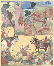 Arjuna is killed by his son Babhnu Vahana in battle