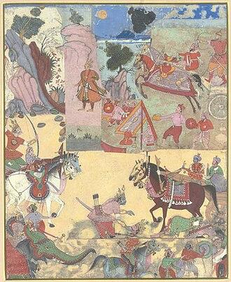 Babruvahana - Arjuna is killed by his son Babru Vahana in battle
