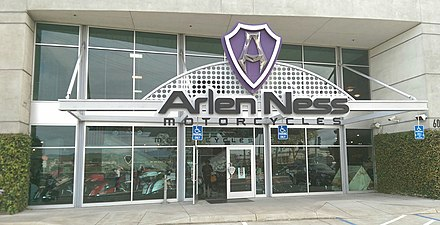 Entrance to Arlen Ness Motorcycles in Dublin, California Arlen Ness Motorcycles 1.jpg