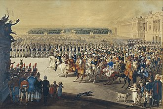 Bourbon Restoration - The allied armies parade on the Place de la Concorde (1814)