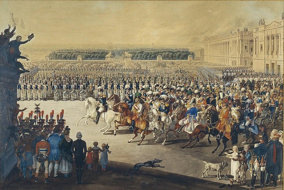 Armies of allies entering Paris March 19, 1814 - F.de Maleque (1815)