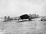 Armstrong Whitworth Whitley Mk V of No. 19 Operational Training Unit based at Kinloss, Morayshire, parked at Abingdon, Berkshire, while visiting No. 10 OTU, September 1940. CH1217.jpg