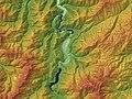 Around Shirakawa-gō Relief Map, SRTM-1.jpg