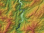 Around Shirakawa-gō Relief Map, SRTM-1.jpg