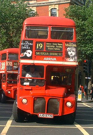 London Buses route 19 - Image: Arriva South London Routemaster RML2577 (JJD 577D) route 19, 10 August 2004
