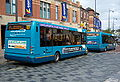 Arriva buses 2850 and 2840 Optare Solos YJ58 CBU and YJ08 XBW in Darlington 5 May 2009.JPG