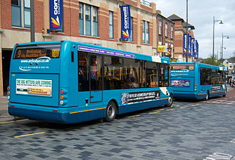 Optare Solo - Rear of an Arriva North East Solo M950 in Darlington in May 2009