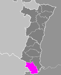 Location of Altkirch in Alsace