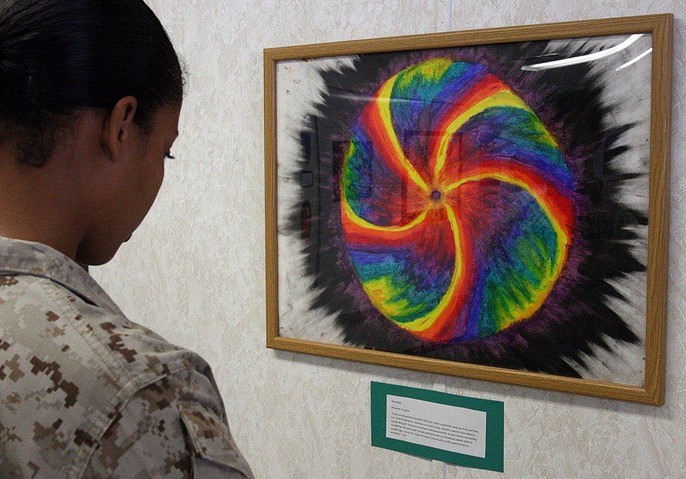 Art of War, Service members use art to relieve PTSD symptoms DVIDS579803.jpg
