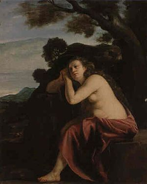 The Penitent Magdalene in a Landscape
