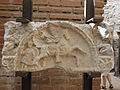 Artifacts at Felix Romuliana, fragment of a decorated frieze. Serbia.jpg
