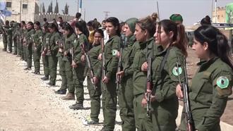Asayish (Rojava cantons) - Female members of the Asayish in Kobanî