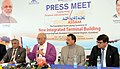 Ashok Gajapathi Raju Pusapati addressing the media after inaugurating the laying the Foundation Stone for New Integrated Terminal Building, Guwahati Airport (New Terminal Site, SOS Road),.jpg