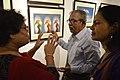 Asit Kumar Roy Explains His Creations - Group Exhibition - PAD - Kolkata 2016-07-29 5170.JPG