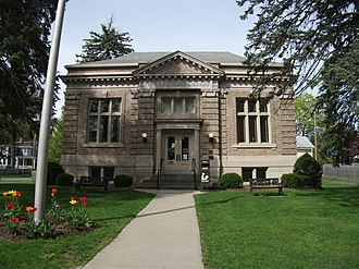 National Register of Historic Places listings in Greene County, New York - Image: Athens Lower Village Historic District Public Library May 11