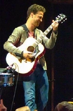 Justin Guarini - Guarini playing with fellow musicians at the Atlanta Hard Rock Cafe in 2012.