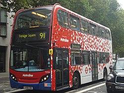Au Morandarte Flickr Metroline (Poppy) TE906 on Route 91, Aldwych (10522388973).jpg