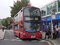 Au Morandarte Flickr Metroline VW1190 on Route 90, Feltham Station (15149454695).jpg