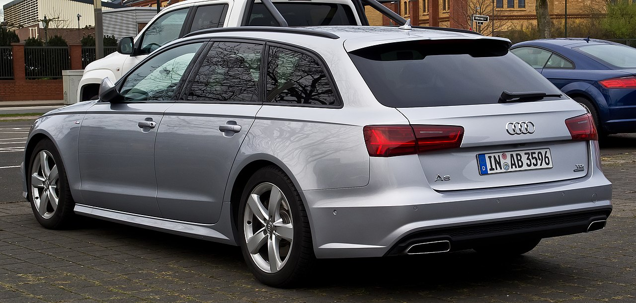 File:Audi A6 Avant TDI quattro S-line (C7, Facelift) – Heckansicht, 3. April 2015, Düsseldorf.jpg