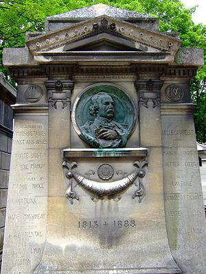 Auguste Maquet - Tomb of Auguste Maquet at Père Lachaise.