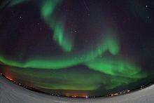 Aurora boreal en Hvolsvöllur (Islandia)