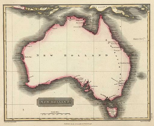 Australia1817, Aaron Arrowsmith [Public domain], via Wikimedia Commons