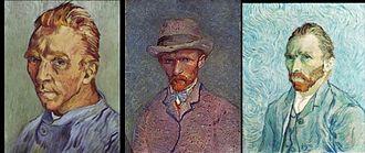 (a) Autoportrait au visage glabre (b) Autoportrait en chapeau de feutre (c) Autoportrait