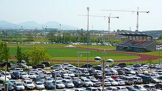 Jeonju World Cup Stadium - Image: Aux. field of Jeonju World Cup Stadium