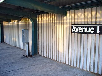 Avenue I (IND Culver Line) - Image: Avenue I NYC Subway Station by David Shankbone