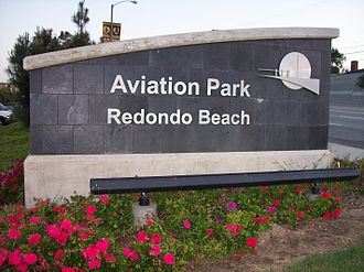 Aviation High School (California) - Aviation Park sign
