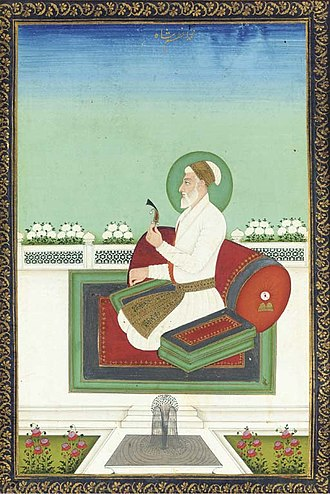 Muhammad Azam Shah - A later portrait of Azam Shah