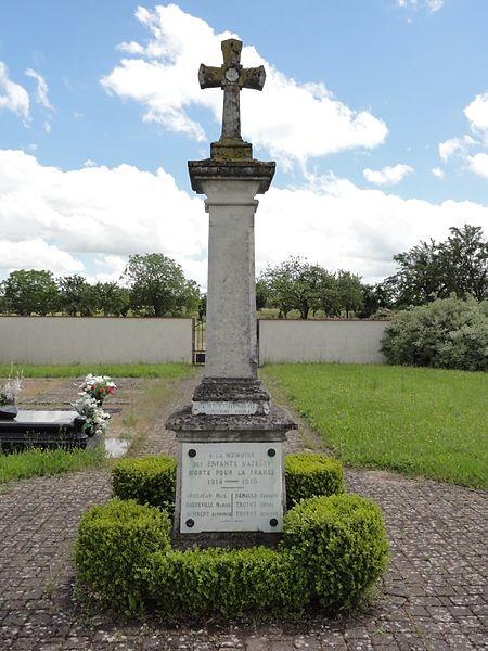 Azelot (M-et-M) monument aux morts, croix de cimetière