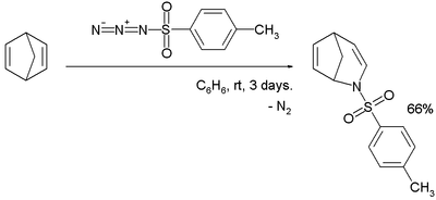 Norbornadiene reaction with tosyl azide