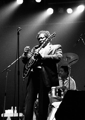 B.B. King - King with his famous guitar, Lucille