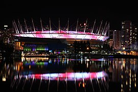 BC Place Northern Lights Display @ False Creek (6573231853).jpg