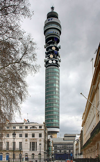 BT Group - The BT Tower, originally the Post Office Tower, constructed between 1961 and 1964