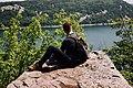 Backpacker over a lake (Unsplash).jpg