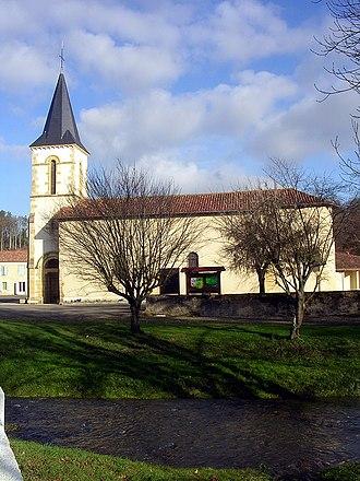Bahus-Soubiran - The church of Bahus-Soubirhan