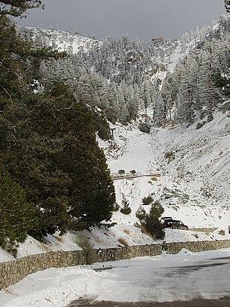 Mount Baldy Ski Lifts - Image: Baldy ski lift