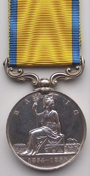 Baltic Medal - Image: Baltic Medal 1854 55 (Reverse)
