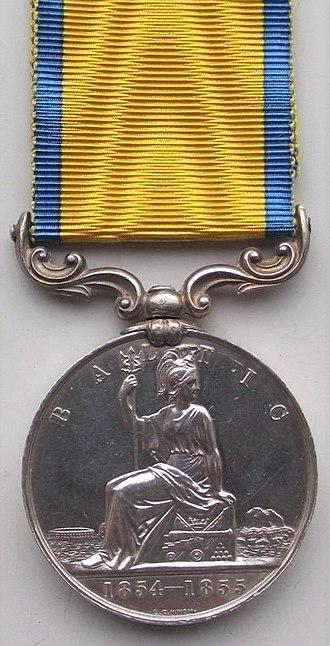 Baltic Medal - Image: Baltic Medal 1854 55 (Reverse)