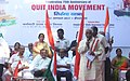 Bandaru Dattatreya addressing the gathering at the inauguration of Tiranga Yatra, on the occasion of 75th Anniversary of Quit India Movement, in Hyderabad.jpg