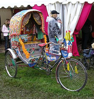 Cycle rickshaw - A Bangladeshi rickshaw for display in Sweden.