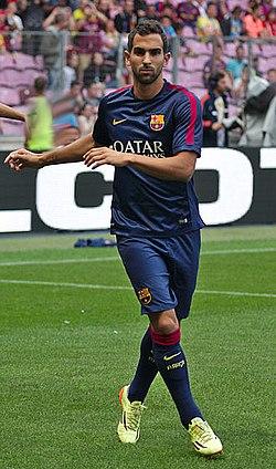 Barça - Napoli - 20140806 - Martin Montoya.jpg