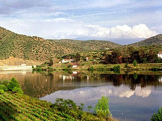 Protected areas of Portugal - The Douro River winding through the Douro International Nature Park